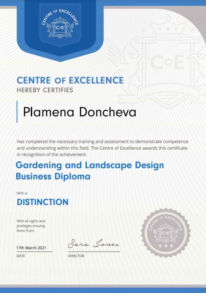 gardening and landscape design business diploma